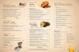 Gdanska-ravintolan ruokalista