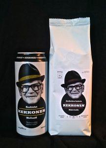 Kekkosen nimellä ja naamalla myydään suomalaista olutta ja belgialaista kahvia.