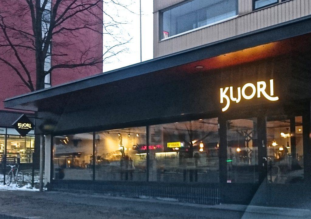 Kuori sijaitsee Hämeenkadulla, entisen Rostenin kahvilan paikalla.